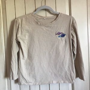planet embroidered tee